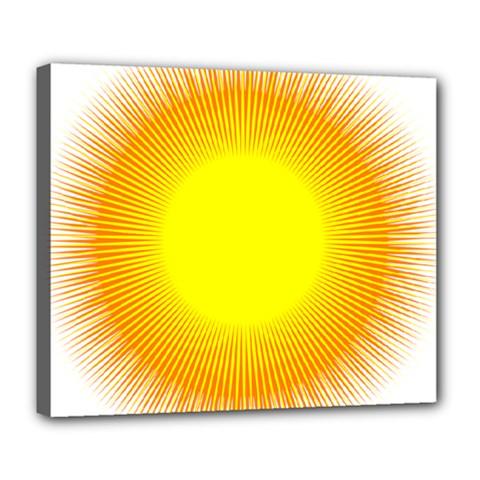 Sunlight Sun Orange Yellow Light Deluxe Canvas 24  X 20   by Alisyart