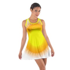 Sunlight Sun Orange Yellow Light Cotton Racerback Dress by Alisyart