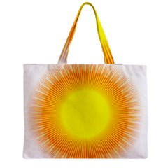 Sunlight Sun Orange Yellow Light Medium Tote Bag by Alisyart