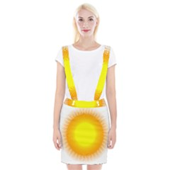 Sunlight Sun Orange Yellow Light Suspender Skirt by Alisyart