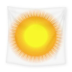Sunlight Sun Orange Yellow Light Square Tapestry (large) by Alisyart