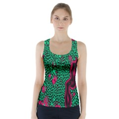 Reaction Diffusion Green Purple Racer Back Sports Top by Alisyart