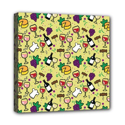 Wine Cheede Fruit Purple Yellow Mini Canvas 8  X 8  by Alisyart