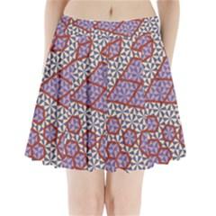 Triangle Plaid Circle Purple Grey Red Pleated Mini Skirt by Alisyart