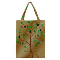 Tree Root Leaves Contour Outlines Classic Tote Bag by Simbadda