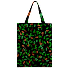 Leaves True Leaves Autumn Green Zipper Classic Tote Bag by Simbadda