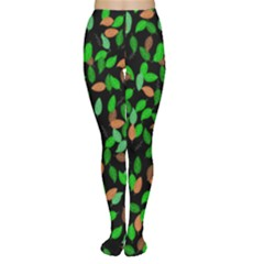 Leaves True Leaves Autumn Green Women s Tights by Simbadda