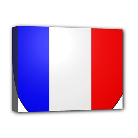 Shield On The French Senate Entrance Deluxe Canvas 16  X 12   by abbeyz71
