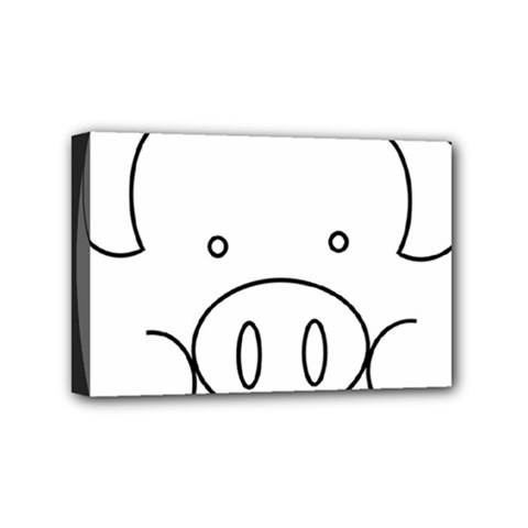 Pig Logo Mini Canvas 6  X 4  by Simbadda