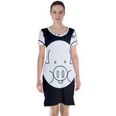 Pig Logo Short Sleeve Nightdress