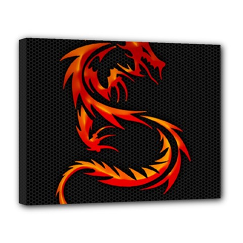Dragon Canvas 14  X 11  by Simbadda
