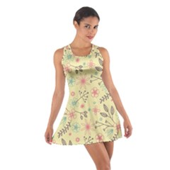 Seamless Spring Flowers Patterns Cotton Racerback Dress by TastefulDesigns