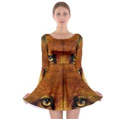 Fox Long Sleeve Skater Dress