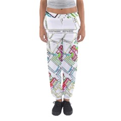 Paris Map Women s Jogger Sweatpants by Simbadda