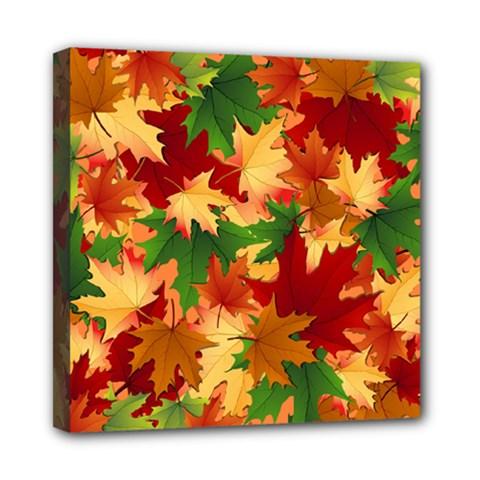 Autumn Leaves Mini Canvas 8  X 8  by Simbadda
