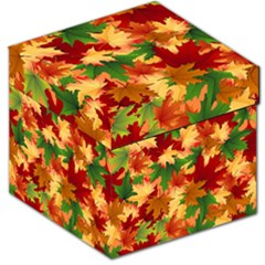 Autumn Leaves Storage Stool 12   by Simbadda