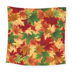 Autumn Leaves Square Tapestry (large) by Simbadda