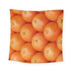 Orange Fruit Square Tapestry (small) by Simbadda