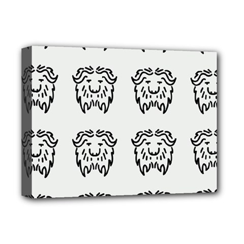 Animal Bison Grey Wild Deluxe Canvas 16  X 12   by Alisyart