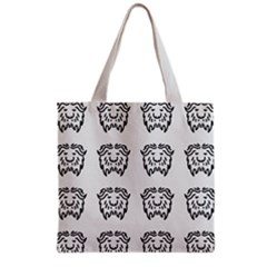 Animal Bison Grey Wild Grocery Tote Bag by Alisyart