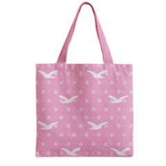 Wallpaper Same Palette Pink Star Bird Animals Grocery Tote Bag by Alisyart