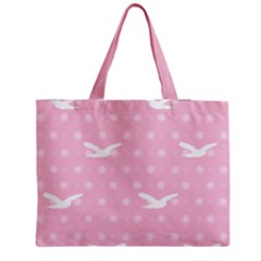 Wallpaper Same Palette Pink Star Bird Animals Medium Tote Bag by Alisyart