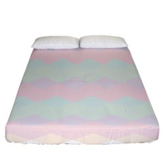 Argyle Triangle Plaid Blue Pink Red Blue Orange Fitted Sheet (california King Size) by Alisyart