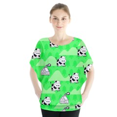 Animals Cow Home Sweet Tree Green Blouse by Alisyart