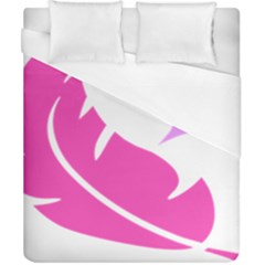 Bird Feathers Star Pink Duvet Cover (california King Size) by Alisyart