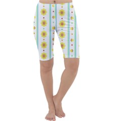 Beans Flower Floral Yellow Cropped Leggings