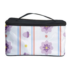 Beans Flower Floral Purple Cosmetic Storage Case by Alisyart