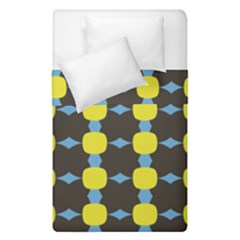 Blue Black Yellow Plaid Star Wave Chevron Duvet Cover Double Side (single Size) by Alisyart