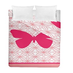 Butterfly Animals Pink Plaid Triangle Circle Flower Duvet Cover Double Side (full/ Double Size) by Alisyart