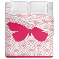 Butterfly Animals Pink Plaid Triangle Circle Flower Duvet Cover Double Side (california King Size) by Alisyart