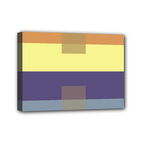 Color Therey Orange Yellow Purple Blue Mini Canvas 7  X 5  by Alisyart
