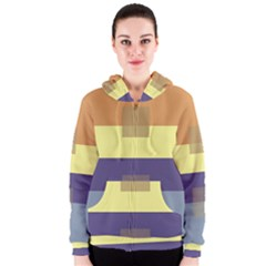 Color Therey Orange Yellow Purple Blue Women s Zipper Hoodie