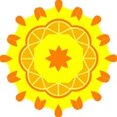 Citrus Cutie Request Orange Limes Yellow Hook Handle Umbrellas (medium)