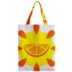 Citrus Cutie Request Orange Limes Yellow Zipper Classic Tote Bag by Alisyart