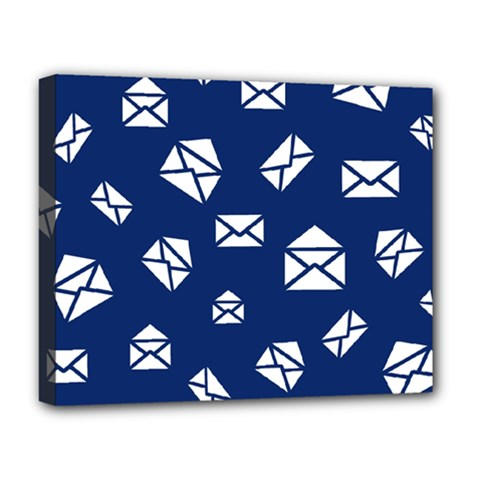 Envelope Letter Sand Blue White Masage Deluxe Canvas 20  X 16   by Alisyart