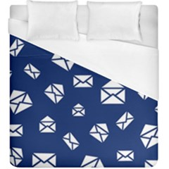 Envelope Letter Sand Blue White Masage Duvet Cover (king Size) by Alisyart