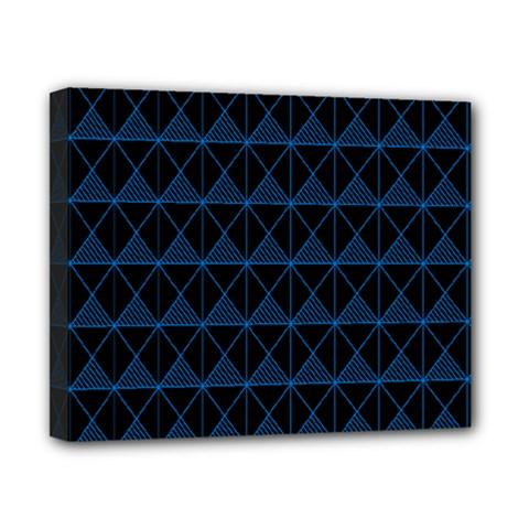 Colored Line Light Triangle Plaid Blue Black Canvas 10  X 8  by Alisyart