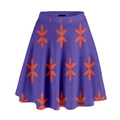 Flower Floral Different Colours Purple Orange High Waist Skirt by Alisyart