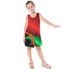 Fractal Construction Kids  Sleeveless Dress