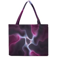 Colorful Fractal Background Mini Tote Bag by Simbadda
