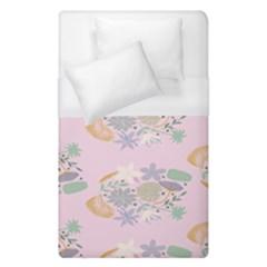Floral Flower Rose Sunflower Star Leaf Pink Green Blue Duvet Cover (single Size) by Alisyart