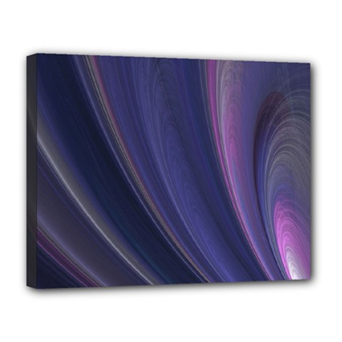 Purple Fractal Canvas 14  X 11  by Simbadda