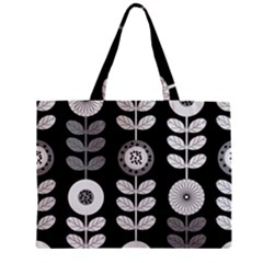 Floral Pattern Seamless Background Zipper Mini Tote Bag by Simbadda