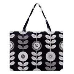 Floral Pattern Seamless Background Medium Tote Bag by Simbadda
