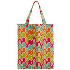 Abstract Pattern Colorful Wallpaper Zipper Classic Tote Bag by Simbadda