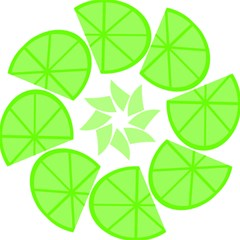 Fruit Lime Green Folding Umbrellas by Alisyart